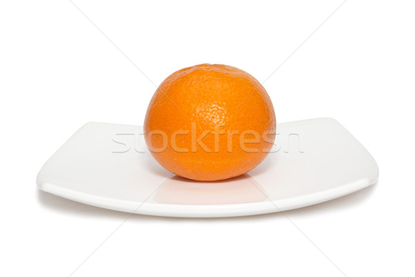 Orange mandarin on the plate. Stock photo © vapi