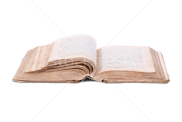 Stock photo: Open old book