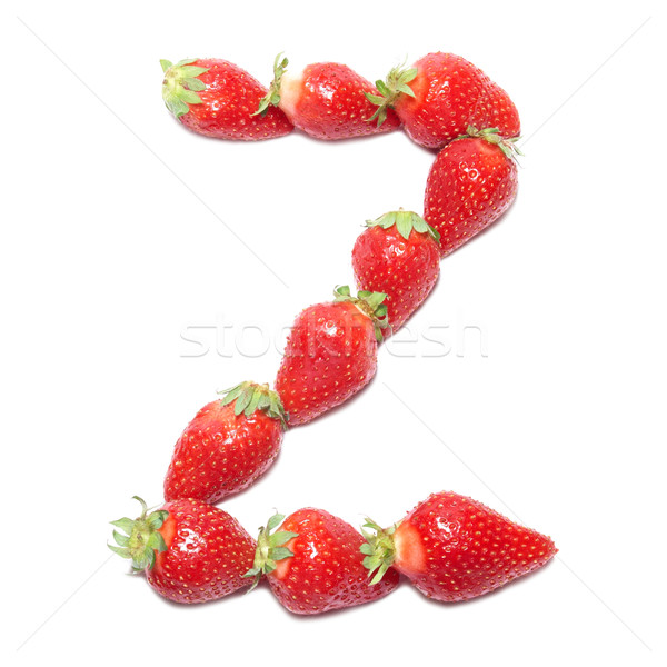 Eper egészség ábécé z betű fehér elszigeteltség Stock fotó © vapi