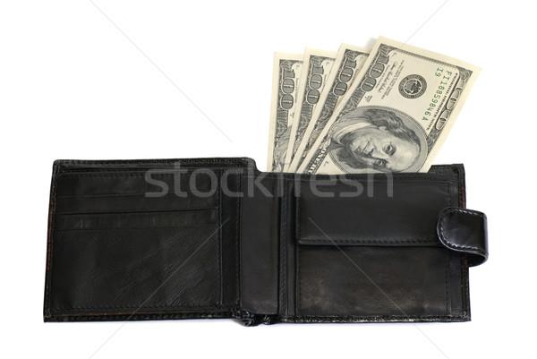 кошелька долларов изолированный белый бизнеса Финансы Сток-фото © vapi
