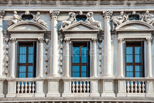Fachada branco palácio praça Foto stock © vapi