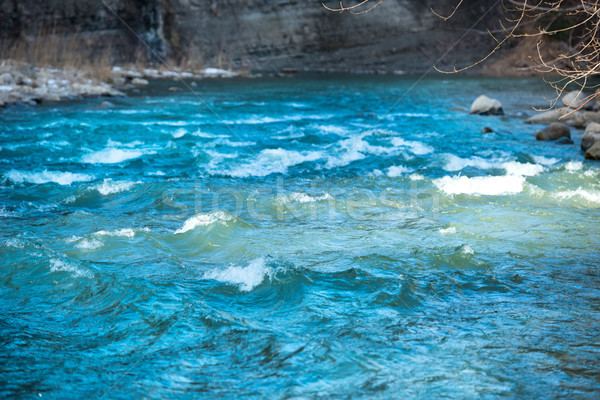 Blue river water with waves Stock photo © vapi