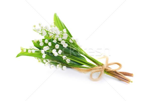 Stockfoto: Lelies · vallei · boeket · witte · bloemen · geïsoleerd · witte