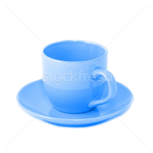 Blu tazza da tè piattino isolato bianco natura Foto d'archivio © vapi