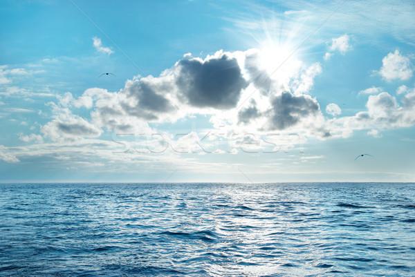 Marin nuages mer bleu eau ciel Photo stock © vapi