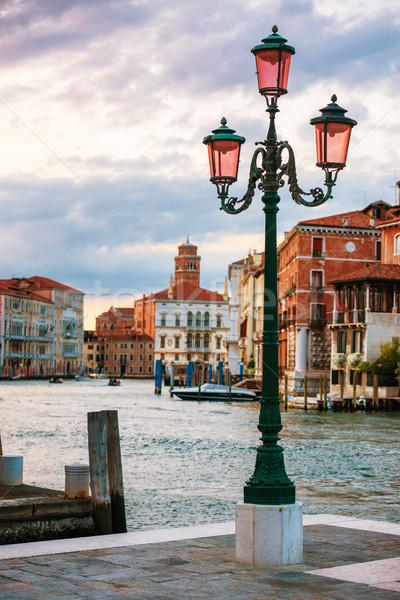 Lamp on the streen at Grand Canal, Venice Stock photo © vapi