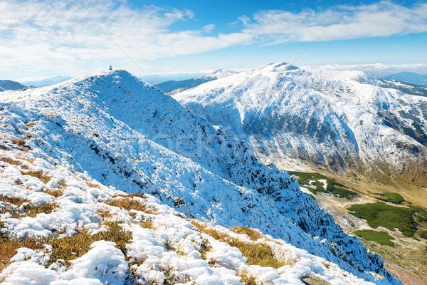 White peaks of mountains in snow Stock photo © vapi
