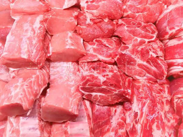 Stockfoto: Rundvlees · varkensvlees · vlees · Rood · markt · diner