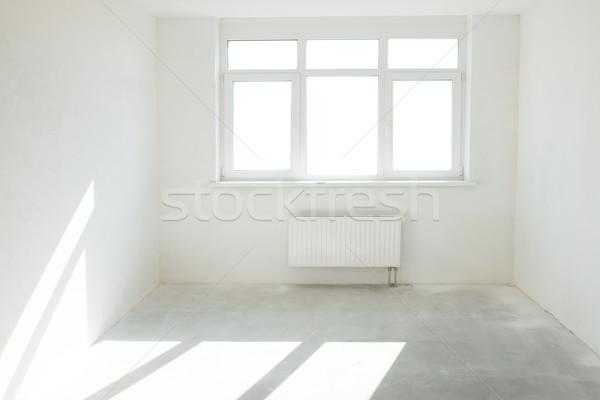 Stock fotó: Fehér · szoba · ablak · tele · fény · üzlet