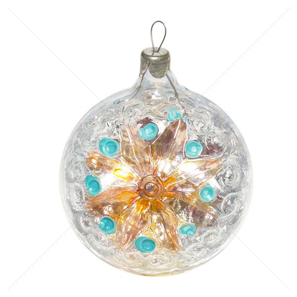Рождества безделушка изолированный белый свет стекла Сток-фото © vapi