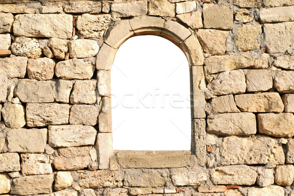 Stock photo: Window in the wall