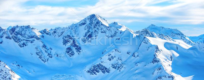 Panorama of winter mountains in snow Stock photo © vapi
