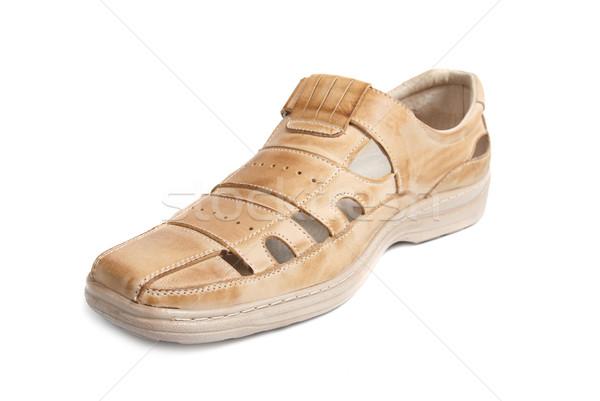 Um marrom sapato isolado branco moda Foto stock © vapi