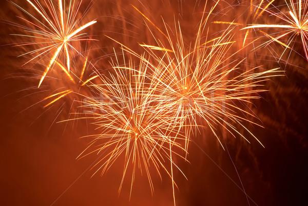 Stock fotó: Színes · tűzijáték · piros · fekete · égbolt · ünnep