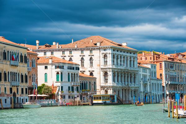 運河 ヴェネツィア イタリア バシリカ サンタクロース ストックフォト © vapi