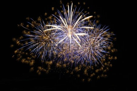 Vakantie vuurwerk nacht zwarte hemel brand Stockfoto © vapi