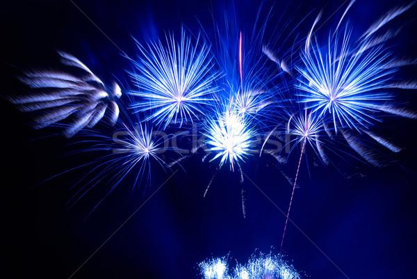 Stock fotó: Gyönyörű · tűzijáték · fekete · égbolt · fény · háttér