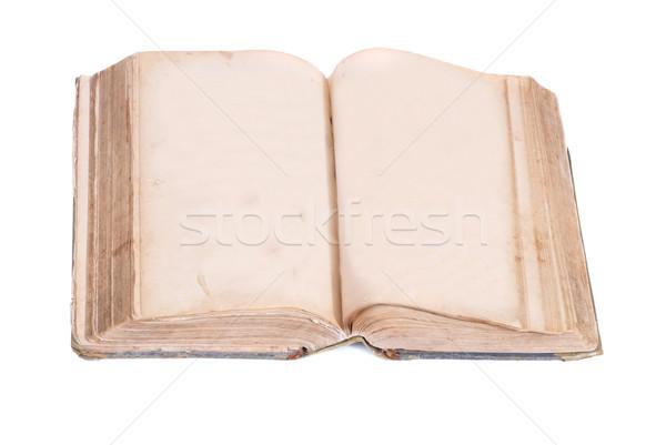Boş eski kitap yalıtılmış beyaz doku kitap Stok fotoğraf © vapi