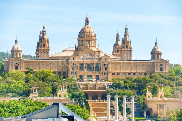 Müze sanat Barcelona Bina şehir dağ Stok fotoğraf © vapi