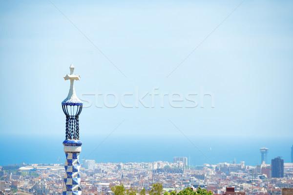 Park stad Barcelona ontwerp zomer Stockfoto © vapi