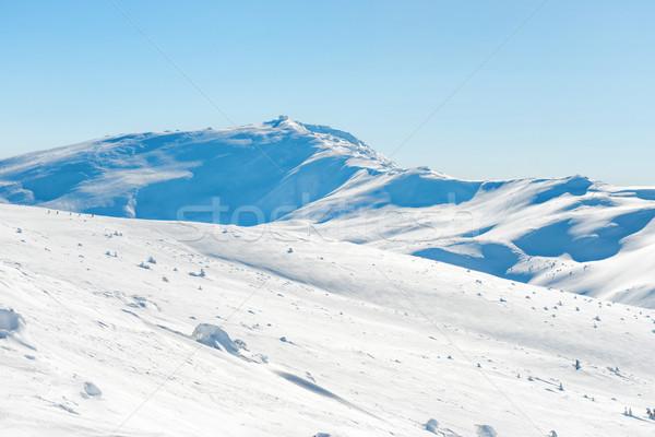 Range of mountains peaks in snow Stock photo © vapi