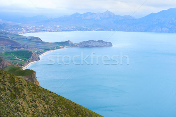 Sea harbor with blue water Stock photo © vapi
