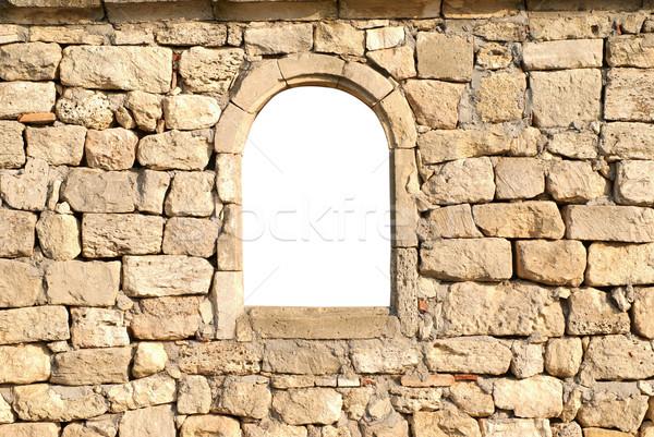 Stock photo: Window in the wall