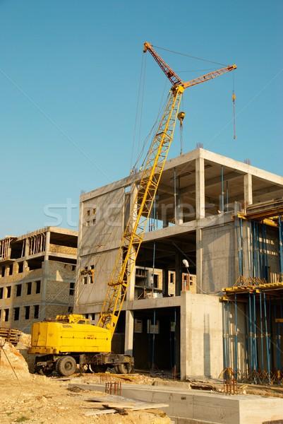 Edifício guindaste construção negócio céu casa Foto stock © vapi