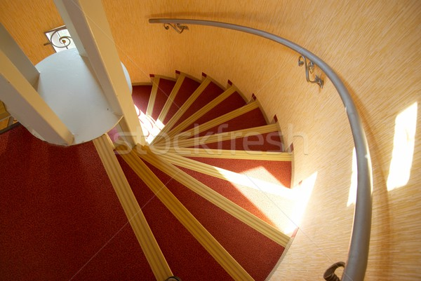 Spiral staircase in a house. Stock photo © vapi