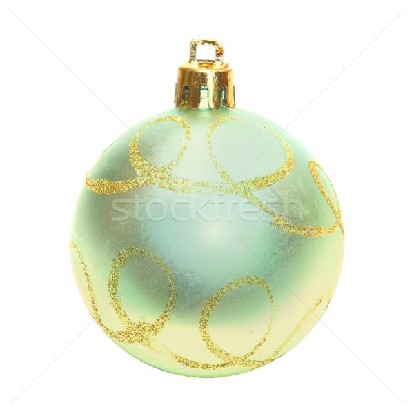 Amarelo natal bugiganga vidro arte laranja Foto stock © vapi