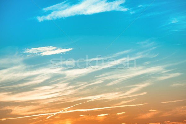 Beautiful sunset blue and orange sky Stock photo © vapi