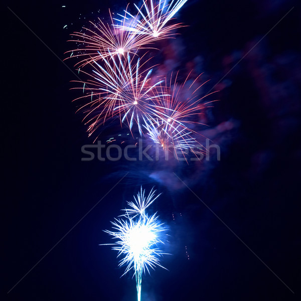 Stock photo: Fireworks, salute