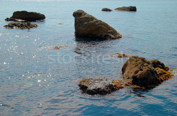 Sea landscape with rocks and water surface. Stock photo © vapi