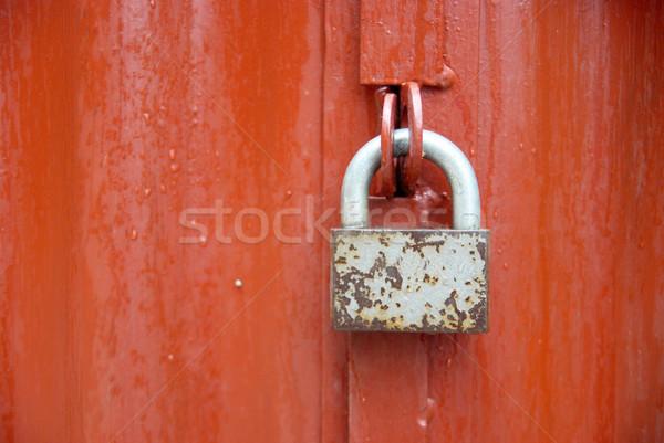 Lock on the red door. Stock photo © vapi
