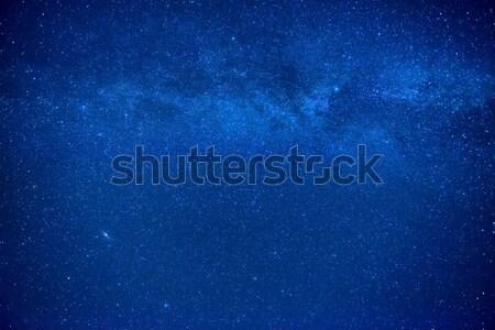 Noc ciemne Błękitne niebo wiele gwiazdki mleczny Zdjęcia stock © vapi