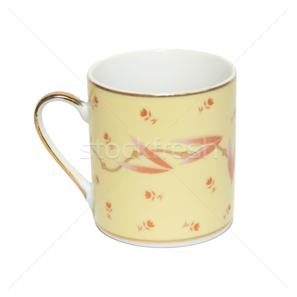 Yellow cofee cup isolated in white. Stock photo © vapi