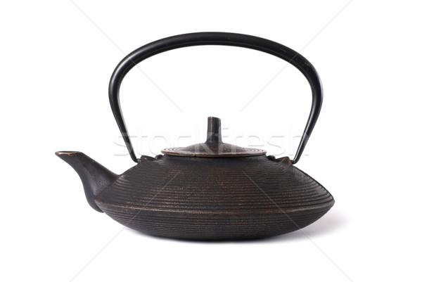 Ijzer japans theepot oude geïsoleerd witte Stockfoto © vapi
