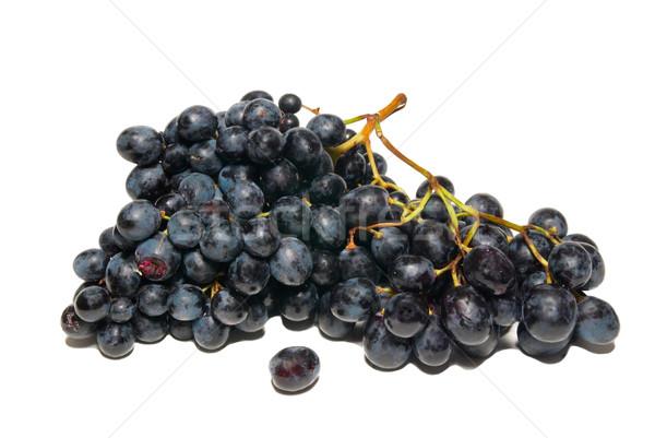 Foto stock: Preto · uvas · isolado · branco · natureza · fruto