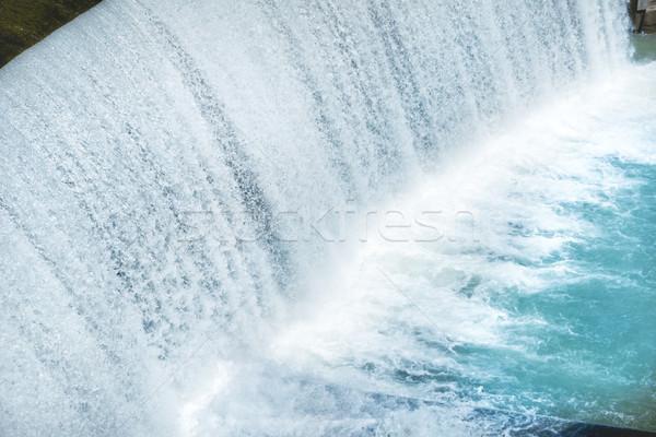Waterfall on a big dam Stock photo © vapi