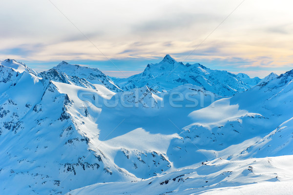 Mountains with snow peaks Stock photo © vapi