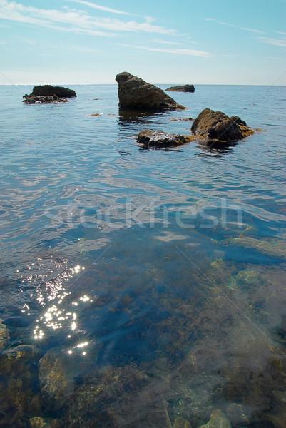 Morza krajobraz skał powierzchnia wody chmury charakter Zdjęcia stock © vapi