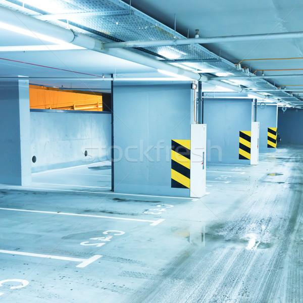 Boş yeraltı park araba ışık araba Stok fotoğraf © vapi