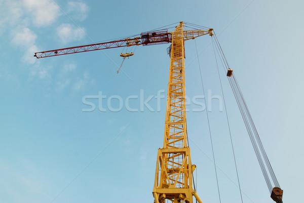 Building crane and construction. Stock photo © vapi