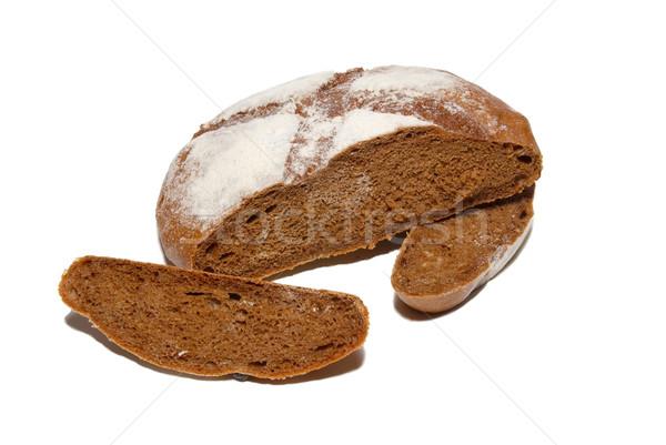 Sliced brown bread isolated on white. Stock photo © vapi