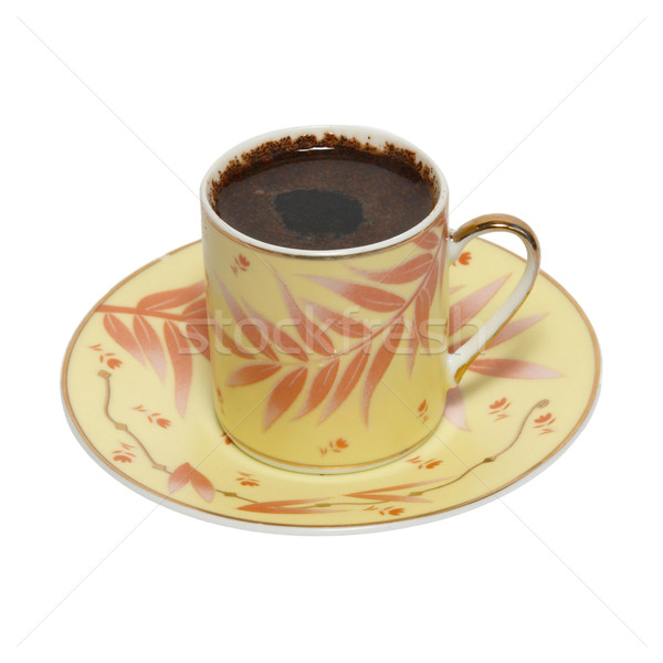 Stock photo: Coffee cup with saucer isolated on white.