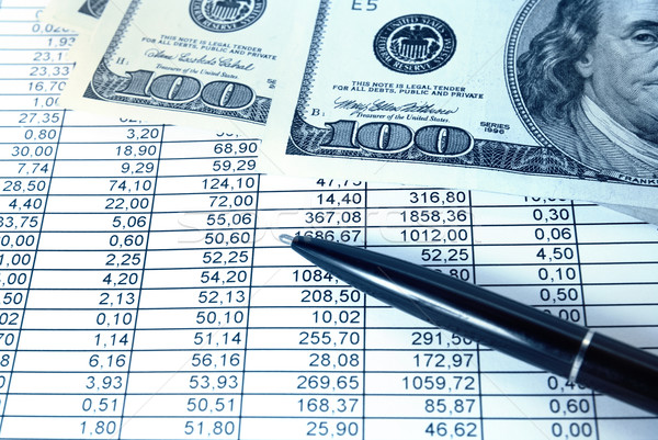 Money with financial table Stock photo © vapi