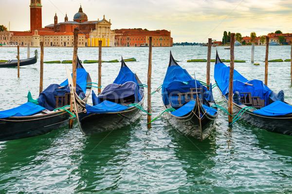 Naplemente Velence Olaszország égbolt víz város Stock fotó © vapi