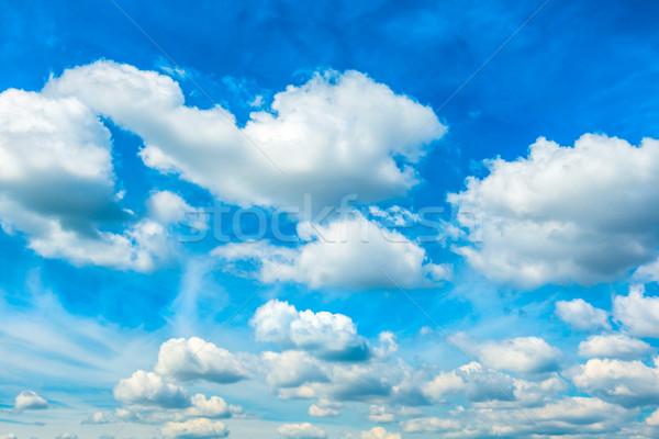 Witte pluizig wolken blauwe hemel natuur hemel Stockfoto © vapi