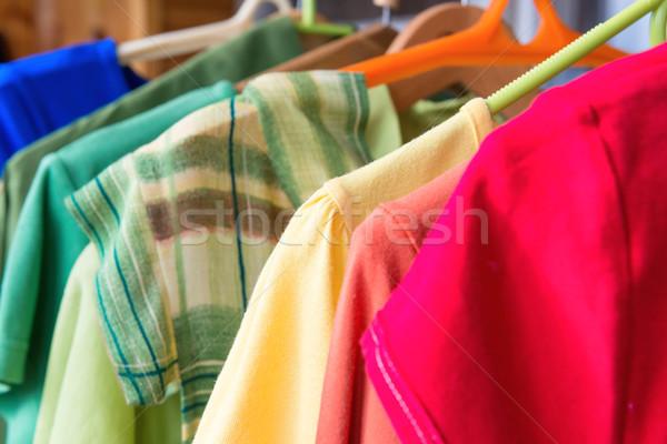 多くの カラフル 服 小売 販売 ストックフォト © vapi