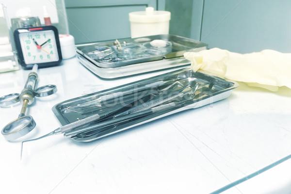 Stock photo: Dental tools and instrumentы